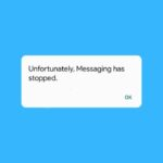 fix unfortunately messaging has stopped error